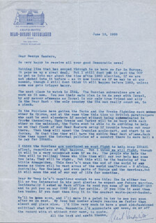 CORNELIUS VANDERBILT JR. - TYPED LETTER SIGNED 06/18/1958