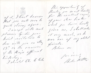 Autographs: PRINCE CHRISTIAN OF SCHLESWIG-HOLSTEN (DENMARK) - AUTOGRAPH LETTER SIGNED 04/29/1911