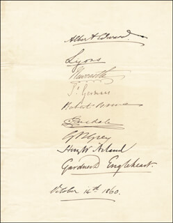 Autographs: KING EDWARD VII (GREAT BRITAIN) - SIGNATURE(S) 10/14/1860 CO-SIGNED BY: SIR HENRY W. ACLAND, BARON LYONS , THIRD EARL OF ST GERMANS, SIR GARDNER D. ENGLEHEART