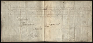 Autographs: EARL OF NORTHUMBERLAND X - MILITARY APPOINTMENT SIGNED 09/06/1645 CO-SIGNED BY: SIR JOHN CREWE, WILLIAM PIERREPOINT, EDWARD (EARL OF MANCHESTER II) MONTAGUE, SIR PHILIP STAPLETON, WILLIAM WALLER