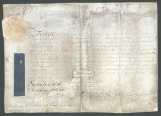 Autographs: KING GEORGE II (GREAT BRITAIN) - MILITARY APPOINTMENT SIGNED 10/01/1757 CO-SIGNED BY: HENRY 1ST BARON HOLLAND FOX, THOMAS TYRWHITT, JOHN A. F. HESSE