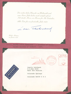 Autographs: PRINCE LOUIS FERDINAND (GERMANY) - CHRISTMAS / HOLIDAY CARD SIGNED 1/1979