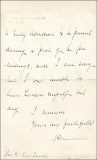 A. HAMILTON-GORDON - MANUSCRIPT LETTER SIGNED 07/23/1883