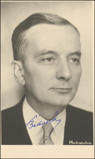 Autographs: PRIME MINISTER GEORGES BIDAULT (FRANCE) - PHOTOGRAPH SIGNED