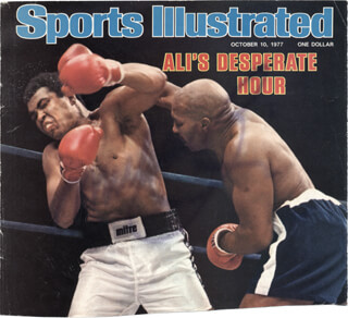 MUHAMMAD THE GREATEST ALI - MAGAZINE COVER SIGNED