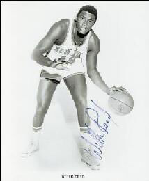 WILLIS REED - PRINTED PHOTOGRAPH SIGNED IN INK