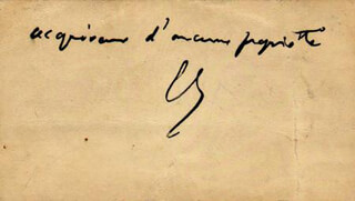 Autographs: PRIME MINISTER GEORGES CLEMENCEAU (FRANCE) - AUTOGRAPH SENTIMENT ON CALLING CARD SIGNED