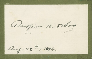 Autographs: FREDERICK BLACKWOOD - SIGNATURE(S) 08/28/1894