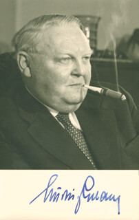 Autographs: CHANCELLOR LUDWIG ERHARD - PHOTOGRAPH SIGNED