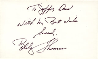 BOBBY THOMSON - AUTOGRAPH NOTE SIGNED