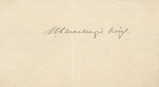 PRIME MINISTER W. L. MACKENZIE KING (CANADA) - AUTOGRAPH