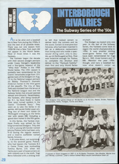 BOBBY THOMSON - ARTICLE SIGNED