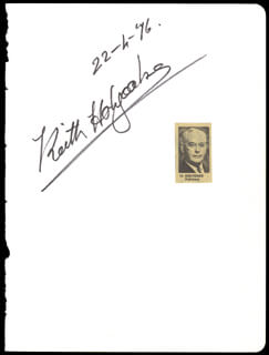 PRIME MINISTER KEITH HOLYOAKE (NEW ZEALAND) - AUTOGRAPH 04/22/1976