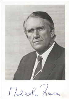 PRIME MINISTER MALCOLM FRASER (AUSTRALIA) - AUTOGRAPHED SIGNED PHOTOGRAPH