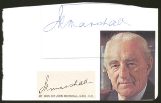 PRIME MINISTER JOHN ROSS MARSHALL (NEW ZEALAND) - CLIPPED SIGNATURE