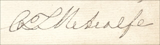 CHARLES T. METCALFE - AUTOGRAPH