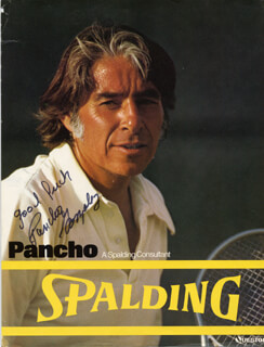 PANCHO GONZALEZ - ADVERTISEMENT SIGNED