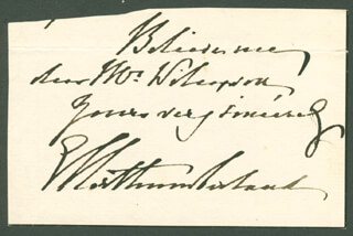 Autographs: GEORGE (5TH DUKE OF NORTHUMBERLAND) PERCY - AUTOGRAPH NOTE SIGNED
