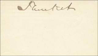 WILLIAM C. PLUNKET - AUTOGRAPH