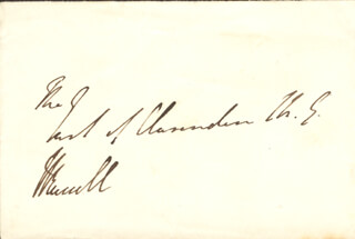 PRIME MINISTER JOHN RUSSELL (GREAT BRITAIN) - AUTOGRAPH ENVELOPE SIGNED