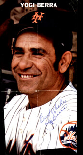 YOGI BERRA - MAGAZINE PHOTOGRAPH SIGNED