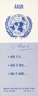 U THANT - PAMPHLET SIGNED