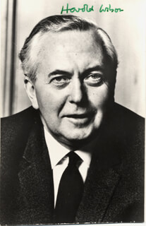 PRIME MINISTER HAROLD WILSON (GREAT BRITAIN) - AUTOGRAPHED SIGNED PHOTOGRAPH