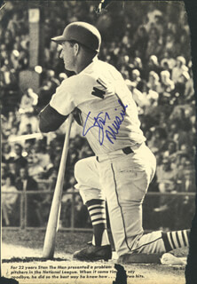 STAN THE MAN MUSIAL - MAGAZINE PHOTOGRAPH SIGNED