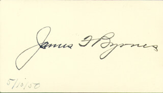 Autographs: ASSOCIATE JUSTICE JAMES F. BYRNES - SIGNATURE(S) CIRCA 1950