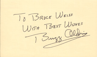 Autographs: COLONEL BUZZ ALDRIN - AUTOGRAPH NOTE SIGNED