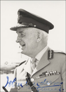 GENERAL JOHN ANDERSON - AUTOGRAPHED SIGNED PHOTOGRAPH