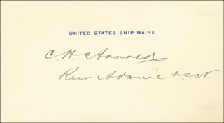 Autographs: REAR ADMIRAL CONWAY H. ARNOLD - SIGNATURE(S)