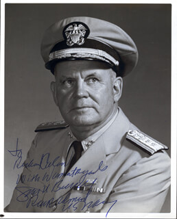 Autographs: VICE ADMIRAL JOHN D. BULKELEY - INSCRIBED PHOTOGRAPH SIGNED