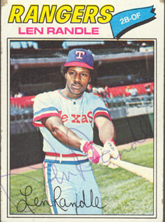 LEN RANDLE - TRADING/SPORTS CARD SIGNED