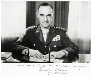 GENERAL LUCIUS D. CLAY - AUTOGRAPHED SIGNED PHOTOGRAPH