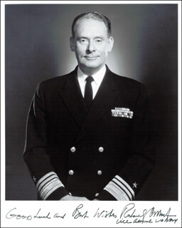 Autographs: ADMIRAL RICHARD G. COLBERT - PHOTOGRAPH SIGNED