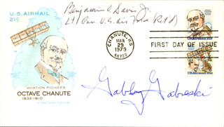 GENERAL BENJAMIN O. DAVIS JR. - FIRST DAY COVER SIGNED CO-SIGNED BY: COLONEL FRANCIS S. GABBY GABRESKI