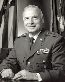 Autographs: LT. GENERAL JOSEPH R. DELUCA - PHOTOGRAPH SIGNED 7/1975