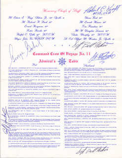 BRIGADIER GENERAL JAMES H. JIMMY DOOLITTLE - PROGRAM SIGNED CIRCA 1976 CO-SIGNED BY: GEORGE GOBEL, TOM FRANDSEN, WILLIAM BILL GEHRIS, CARL J. JACKEL, ROBERT C. KRAFT