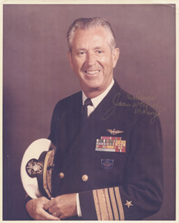 ADMIRAL JAMES W. O'GRADY - AUTOGRAPHED SIGNED PHOTOGRAPH