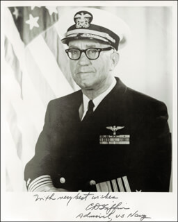 ADMIRAL CHARLES D. GRIFFIN - AUTOGRAPHED SIGNED PHOTOGRAPH