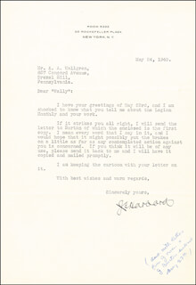 Autographs: LT. GENERAL JAMES G. HARBORD - TYPED LETTER SIGNED 05/24/1940