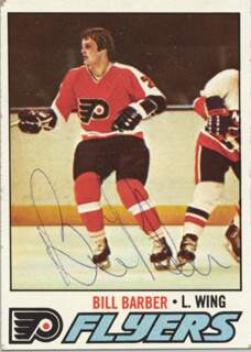 BILL BARBER - TRADING/SPORTS CARD SIGNED