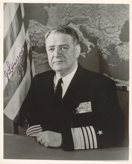 Autographs: ADMIRAL JAMES L. HOLLOWAY JR. - PHOTOGRAPH SIGNED