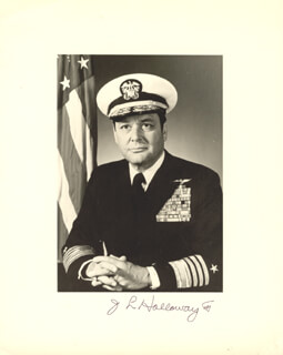 ADMIRAL JAMES L. HOLLOWAY III - AUTOGRAPHED SIGNED PHOTOGRAPH