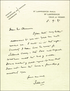 Autographs: EARL OF JELLICOE (JOHN RUSHWORTH) - AUTOGRAPH LETTER SIGNED 08/09/1930