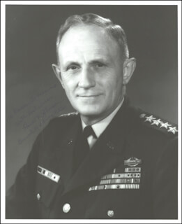 GENERAL HAROLD K. JOHNSON - AUTOGRAPHED INSCRIBED PHOTOGRAPH