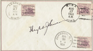 GENERAL HUGH JOHNSON - ENVELOPE SIGNED