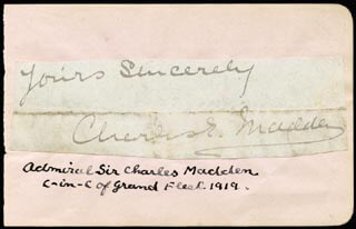 Autographs: ADMIRAL CHARLES E. MADDEN SR. - AUTOGRAPH SENTIMENT SIGNED