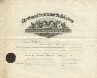 Autographs: MAJOR GENERAL JAMES F. BELL - DOCUMENT SIGNED 06/27/1904